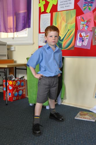 A smart boys uniform