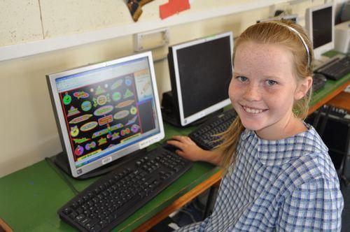 Desktop computers in each classroom
