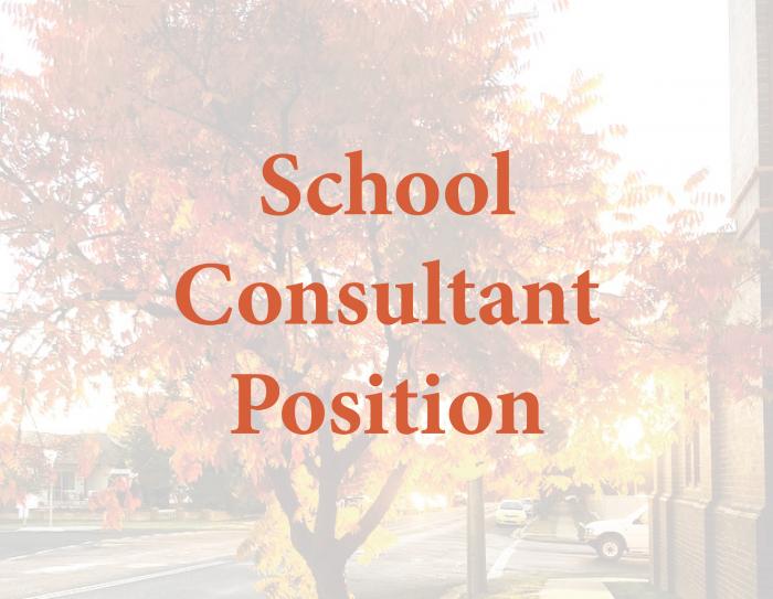 School Consultant Position